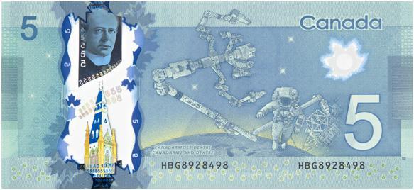 5 долларов канада космические подарки